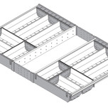Wkład na sztućce do Tandembox dł.: 500 mm szerokość korpusu: 800 mm Min. szerokość: 715 mm Max. szerokość: 724 mm wysokość: 64.2 mm komplet - 6...