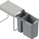 Kosz na śmieci podwójny JC603 do szafki 30 bez mocowania frontuz prowadnicami kulkowymi pełnego wysuwu.  Idealne zastosowanie do kuchni w dowolnym...