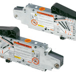 Siłowniki 20S2I00.05 z białymi zaślepkami 20S8000 i podnośnikami 20S3500.05 to elementy systemu AVENTOS HS. Zestaw siłownika do AVENTOS...