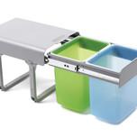 Ekologiczny kosz na śmieci podwójny EKKO 2 z prowadnicami kulkowymi pełnego wysuwu.  Idealne zastosowanie do kuchni w dowolnym miejscu. Umożliwia...