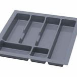UNI wkład do szuflady 50 wykonany z trwałego i estetycznego tworzywa w kolorze metalicznym o gładkiej fakturze. Pozwala optymalnie wykorzystać przestrzeń...
