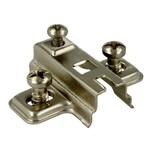 Prowadnik H=2 mm Do Zawiasu z Euro.   Prowadnik firmy FGV Wykonanie: stal niklowana. Grubość stali: 1,0 mm. Wysokość prowadnika: H=2 mm.