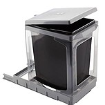 Sortownik na śmieciPAP609/1 Wykonany z tworzywa. Stelaż bez ścianek. Montowany do dna szafki. Pokrywa podnoszona automatycznie. Pojemność 17l. ...