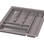 PRO wkład do szuflady 50 wykonany z trwałego i estetycznego tworzywa w kolorze metalicznym o gładkiej fakturze. Pozwala optymalnie wykorzystać przestrzeń...