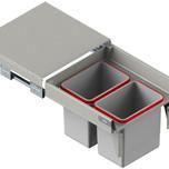 MAXIMA Szuflada z pojemnikami na odpady II 50 H=350 prowadnica L-500 metal lakier srebrny  * prowadnice pełnego wysuwu Rejs z miękkim dociągiem *...
