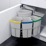 Kosz do sortowania odpadów Eko Center  Pojemność 1x12l + 3x9l Do korpusu o szerokości 50cm  Szerokość 450 mm Wysokość 525 mm Głębokość...