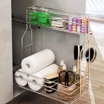 CARGO MINI boczne prawe bez mocowania frontu na artykuły kosmetyczne i detergenty 2-poziomowe do szafki szerokości 30cm. Kolor lakier biały Prowadnice...