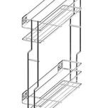CARGO MINI boczne lewe, 2-poziomowe do szafki szerokości 15 cm. otwierane na dotyk PUSH-OPEN Kolor lakier biały System Jezdny Rejs z otwieraniem dotykowym...