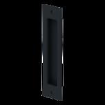 Metalowy uchwyt wpuszczany do drzwi z serii systemu do drzwi przesuwnychDESIGN LINE. Uchwyt pokryty czarną powłoką powłoką wykonaną w procesie...